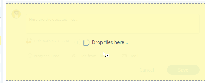 Drag-and-drop files