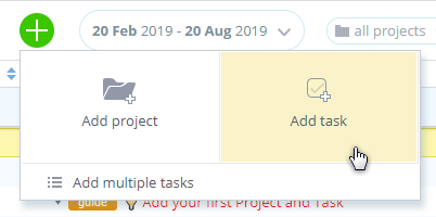 Add Projects and Tasks