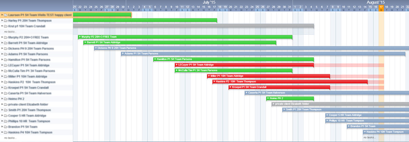 Timeline screenshot