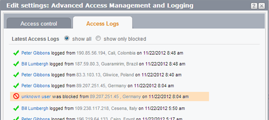 Access logging